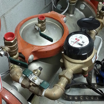 Backflow Fire Suppressant